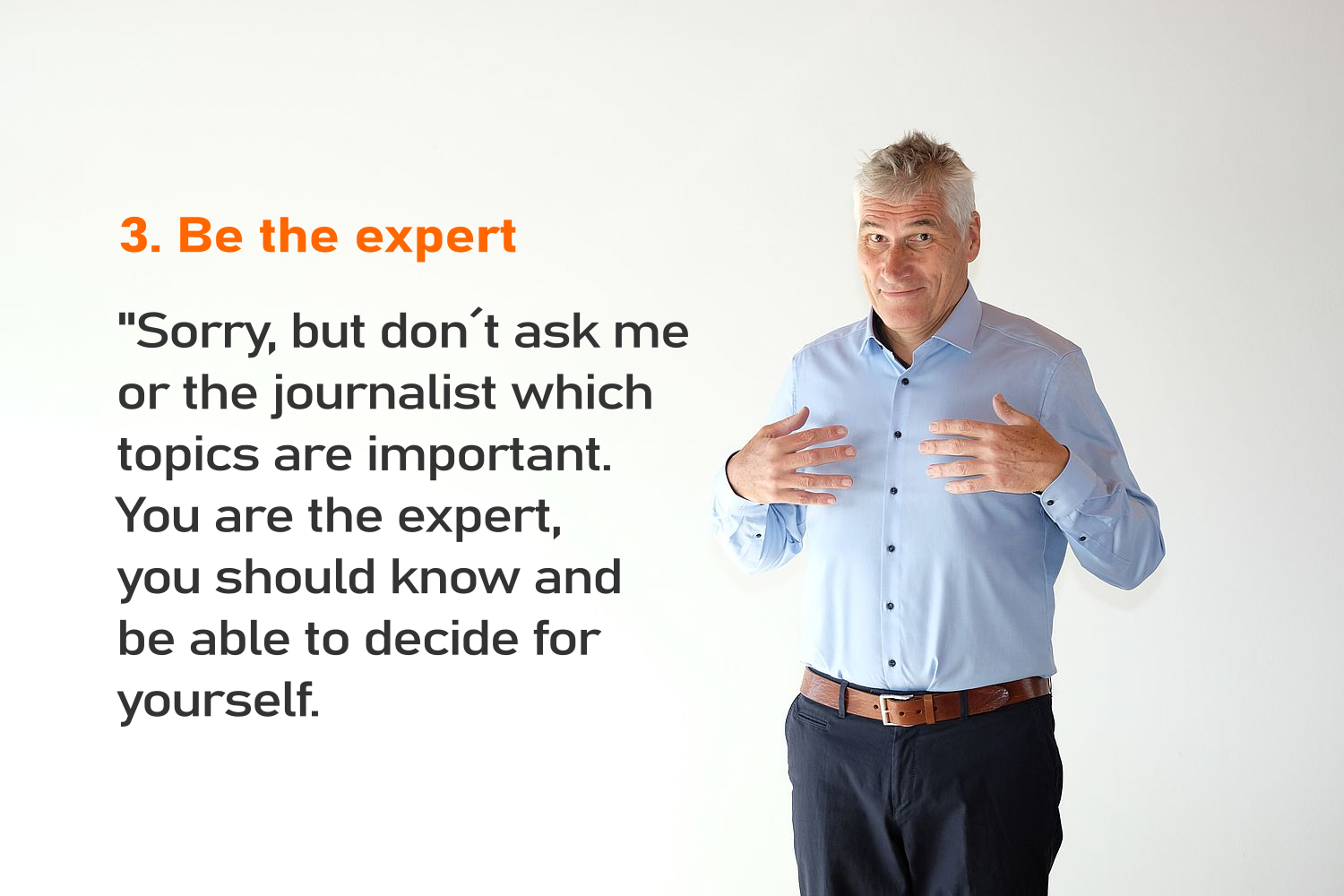 Interview tip 03 Be the expert-png