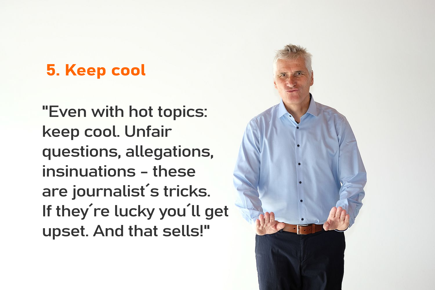 Interview tip 05 Keep cool-png